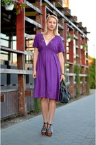 black nowIStyle bag - deep purple Zara dress - black Jeffrey Campbell sandals