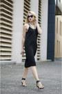 Black-h-m-dress-black-h-m-sunglasses-black-zara-sandals
