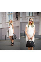 white Mango dress - white Dressin sunglasses