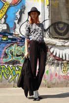 charcoal gray DGM shoes - black Pimkie blazer - heather gray thrifted shirt - bl