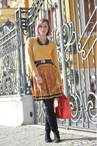 vintage skirt - H&M sweater - Zara bag - Accessorize belt - New Yorker necklace