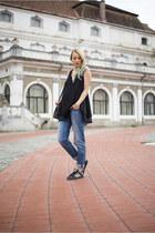 black Dressin dress - navy maternity H&M jeans - black Adidas sneakers