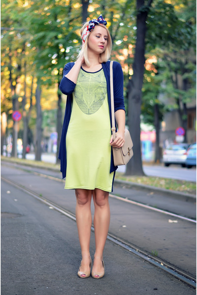 Okey cardigan - bb up shoes shoes - nowIStyle dress - thrifted scarf