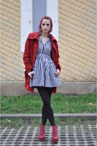 H&M dress - Jeffrey Campbell boots - H&M coat - random tights