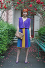 Violet-vintage-dress-beige-meli-melo-bag-violet-filty-pumps