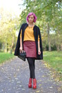 Red-jeffrey-campbell-boots-yellow-h-m-sweater-black-stradivarius-bag