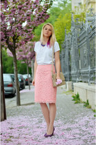light pink lace Sense skirt - purple Filty shoes - white thrifted shirt