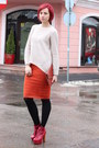 Ruby-red-jeffrey-campbell-boots-off-white-sweater-black-meli-melo-tights