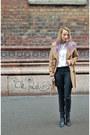 Black-cut-out-stradivarius-boots-camel-topshop-coat