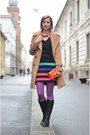 Multicolored-tiramisu-alle-fragole-dress-camel-topshop-coat