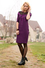 Black-h-m-boots-magenta-bad-style-dress