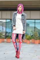 Jeffrey Campbell boots - random dress - uk flag random leggings