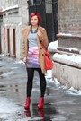 Ruby-red-jeffrey-campbell-boots-tan-topshop-coat-heather-gray-thrifted-shirt
