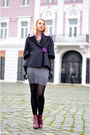 Magenta-ankle-h-m-boots-charcoal-gray-c-a-dress-black-cocoon-nowistyle-coat