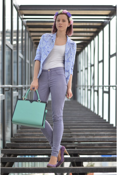 aquamarine nowIStyle bag - light purple Vero Moda bag - purple Filty shoes