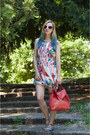 Aquamarine-floral-print-h-m-dress-red-zara-bag-blue-zara-sandals