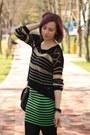 Green-neon-nowistyle-skirt-black-random-boots-black-nowistyle-sweater