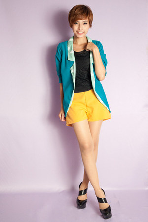 Skinny Heels blazer - Skinny Heels shorts - margie lace top Skinny Heels top