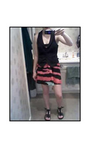 H&M vest - H&M dress - Reef shoes