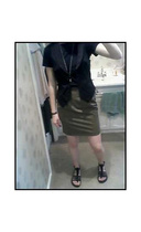H&M vest - Express skirt - American Eagle necklace - Reef shoes