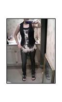 H&M vest - Charlotte Russe shirt - H&M jeans - Reef shoes