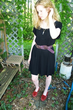Lux dress - Target belt - Minnetonka shoes
