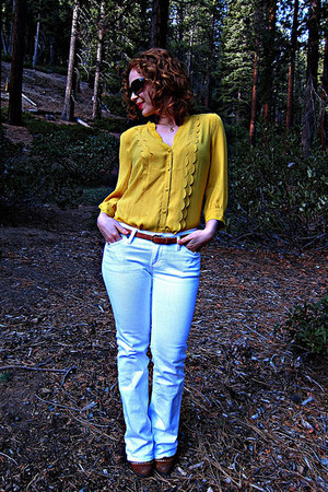 Anthropologie boots - Anthropologie jeans - Anthropologie shirt - H&M belt