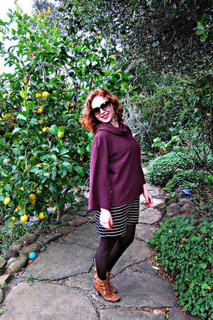 Anthropologie boots - Target dress - BCBG sweater - HUE tights