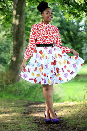 vintage blouse - l made it skirt - Primark heels