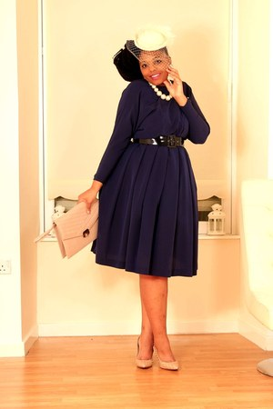 vintage dress - vintage hat - River Island heels