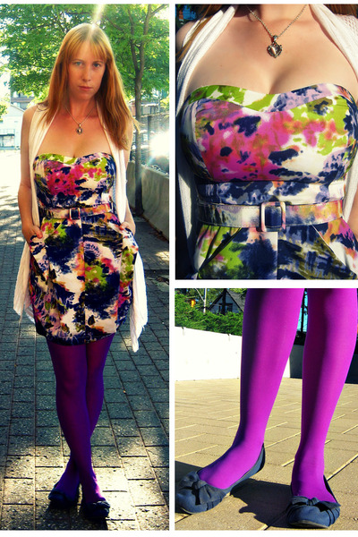 amethyst Spicysurgar dress - deep purple purple show your legs tights