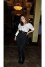 White-topshop-bag-black-new-look-belt-beige-new-look-top-black-office-shoe