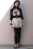 H&M accessories - H&M jacket - American Apparel intimate - vintage belt - Zara t