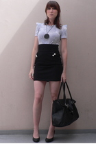storets shirt - H&M skirt - H&M purse - H&M shoes - gift accessories