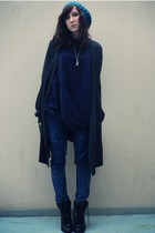 Pimkie hat - storets sweater - storets sweater - Zara jeans - new look boots