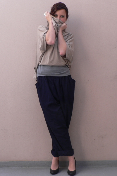 storets top - storets shirt - vitage pants - H&M shoes