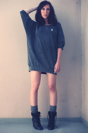H&M sweater - H&M socks - new look boots