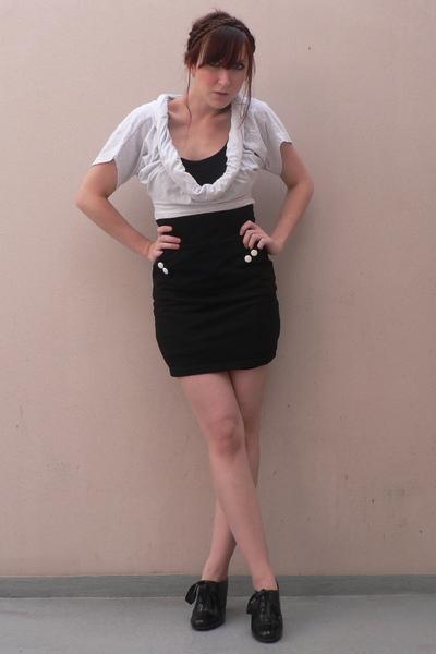 large shirt shirt - H&M skirt - Promod shoes