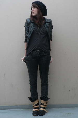 H&amp;M hat - H&amp;M jacket - H&amp;M shirt - Zara jeans - vivienne westwood boots