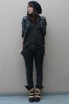 H&M hat - H&M jacket - H&M shirt - Zara jeans - vivienne westwood boots