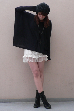 H&M hat - COS shirt - Zara shirt - new look boots - neclakce claires accessories