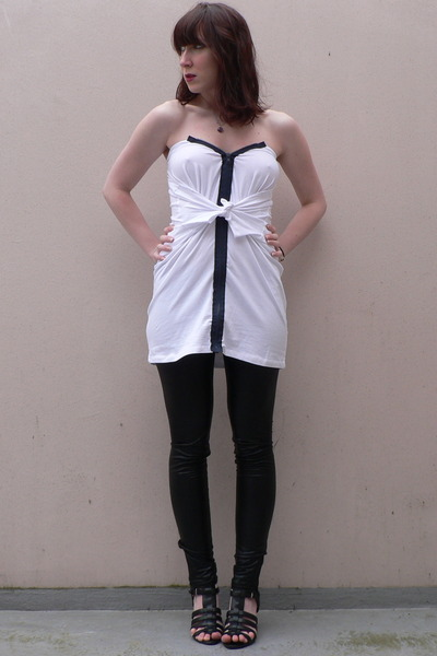 DIY shirt - Pimkie leggings - etam shoes