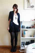 Zara sweater - Zara t-shirt - Zara skirt - Calzedonia tights - united colors of