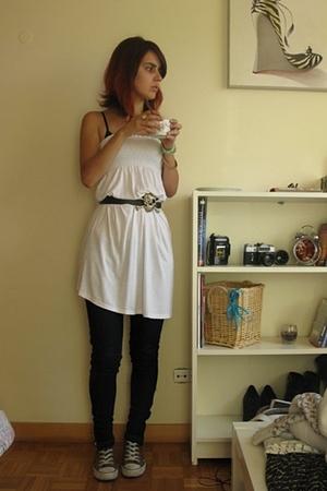Bershka dress - Bershka jeans - Converse shoes
