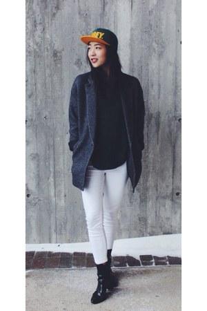 Zara boots - Urban Outfitters hat - Aritzia jacket