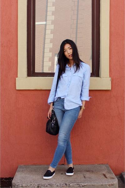Topshop shoes - asos jeans - Topshop shirt