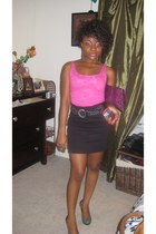H&M intimate - H&M skirt - Steve Madden shoes - random brand bag - Forever 21 ac