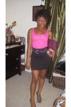 H&M intimate - H&M skirt - Steve Madden shoes - random brand bag - Forever 21 ac
