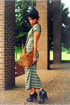 Forever 21 bag - Charlotte Russe boots - thrifted dress - Forever 21 hat