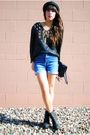 Thrifted-blouse-thrifted-shorts-forever-21-shoes-f21-hat